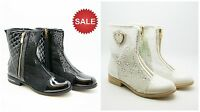 NEW Women Ladies Zip Up Medium Heel Shoes Ankle Boots Summer Spring Fashion