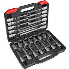 Ensemble clé à douille 1/2 pouce 26 pcs longues/courtes cannelé XZN outils kit