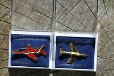 TWO CLIVEDON COLLECTION BADGES ONE HAWKER HUNTER AND ONE RED ARROW