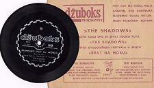 "THE SHADOWS RUNNING OUT OF WORLD RARE ORIGINAL FLEXI 1967 RECORD YUGOSLAVIA 5"""