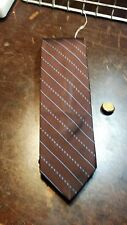 7Th Ave Brown Blue Pattern Mens Necktie Free Shipping