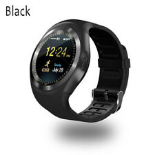 Bluetooth Y1 Smart Watch Phone Mate for Android IOS iPhone Samsung LG Black