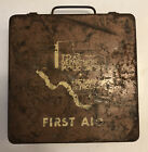 Vintage Texas Department Of Public Safety Highway Patrol Metal First Aid Kit