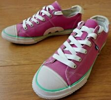 SuperDry Japan Super Series Low Lace up Pink Trainers Shoes Size UK 6