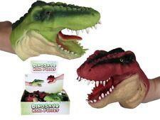 Rot/Grün Dinosaurier Hand Beweglicher Mund Handpuppe Kinder Toy Jungen Strumpf
