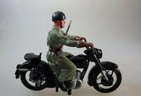 Elastolin Kunststoff 9965 Schweizer Soldat auf Motorrad ab 1970 (62600)