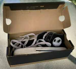 RARE Nightmare Before Christmas Converse-Style Canvas Shoes, Size 3-1/2 or 4