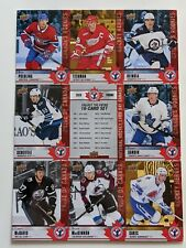 2020 NATIONAL HOCKEY CARD DAY IN CANADA-UNCUT SHEET OF 9-POEHLING+HEINOLA+SANDIN