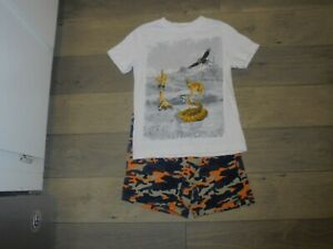 Gymboree Desert Daytrip camo pull on shorts with matching shirt outfit set 7