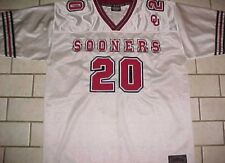 Oklahoma Sooners 20 NCAA Big 12 Playmaker White Crimson Football Jersey L 90a979894