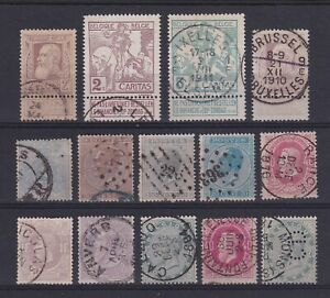 Belgium 1865<1911 - Nice lot of 14 selected Used postage stamps............X3516
