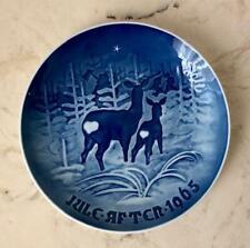 Danish Christmas Collectible Plate - 1965 Bing & Grondah