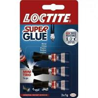 LOCTITE Super Glue - POWER FLEX MINI TRIO GEL - Flexible Adhesive - 3 x 1g Tubes