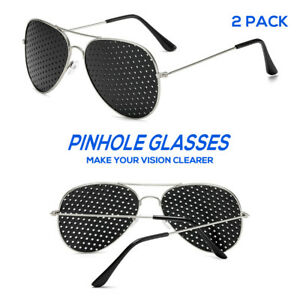 Eyesight Improver Anti-fatigue Vision Clearer Stenopeic Glasses Fashion 2 Pack