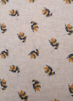 Bee fabric UK 140cm x 40cm approx 80% cotton 20% poly material roll end