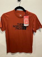 """THE NORTH FACE S/S """"Half Dome Logo"""" Mens T-Shirt SMall Medium Tee Red NEW NWT"""