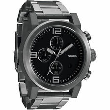 A347 000 A347000 Nixon Ride SS Stainless Steel Chronograph Watch New in Box $500