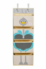 3 Sprouts Hanging Wall Organizer-Storage for Nursery and Changing Tables,Ostrich