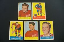 1957-58 TOPPS HOCKEY CARDS* Lot of (5)  Delvecchio/Lindsey