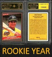 Jose Canseco Rookie Year 1986 Donruss Highlights Card #55 Graded ASG 10