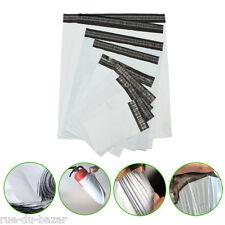 Lot de 100 Enveloppes plastiques blanches opaques -  4 formats au choix