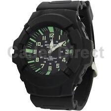 Military Style Quartz Aquaforce Combat Watch Black