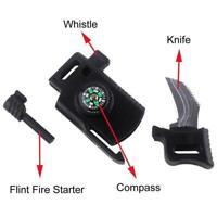 EDC Outdoor Survival Tool Messer Pfeife Fallschirmschnalle Sell