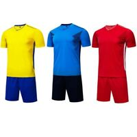 Kids Boys Adult Sport Soccer Football Running Jersey Shorts Kit Uniform Suit