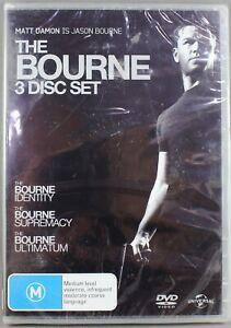 THE BOURNE IDENTITY/THE BOURNE SUPREMACY/THE BOURNE ULTIMATUM- DVD 2008, 3 DISCS