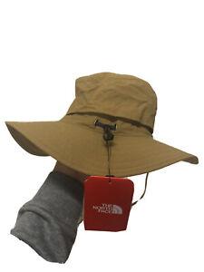 Mens The North Face Horizon Breeze Brim Bucket Hat Cap Trekking L/XL Tan Khaki