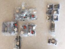 Lot of 34 Asstd Vintage Cabinet Hardware Drawer Pulls Rollers Hinges Brass Metal