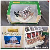 Lemax Village GREENHOUSE & Reindeer 2006 Table Accent M94292 D/71 Vintage