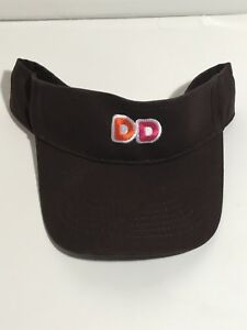 *NEW* Brown DD Dunkin Donuts Uniform Embroidered Visor Hat cap