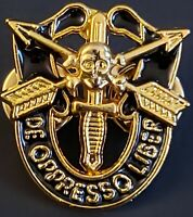 Special Forces Mini Skull Crest DI Pin Uniform US Army SF Airborne SOG GOLD