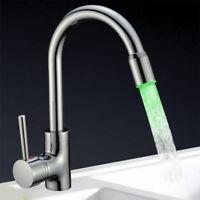 Design LED Küchen Spültisch Armatur | Küchenarmatur | Wasserhahn | Chrom