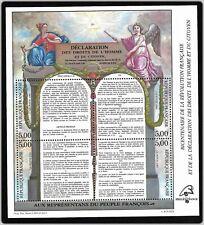 Bloc Feuillet 1989 N°11 Timbres France - Déclaration des Droits de L'homme