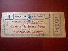 entrada 1957  II copa europa CHAMPIONS REAL MADRID MANCHESTER UNITED SEMIFINAL