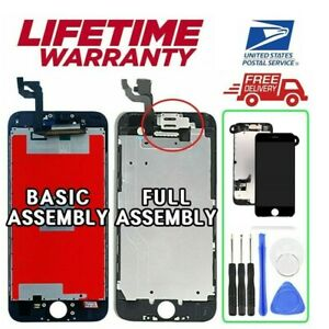 For iPhone 6 6S 7 8 LCD Touch Screen Replacement Digitizer Assembly W/Button LOT