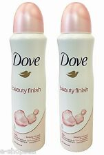 2 DOVE Deodorant Spray Beauty Finish Anti-perspirant Mineral 48 Hour 150Ml New