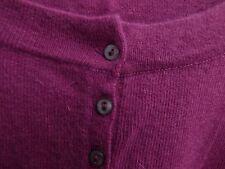 T3 top neuf fuchsia angora petits boutons nacre devant jusqu'à 110 de poitrine