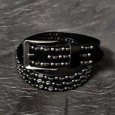 Punk Rock Studded 38MM Width Cool Men Leather Belt Waistband