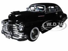 1948 CHEVROLET FLEETLINE AEROSEDAN BLACK 1/24 DIECAST MODEL CAR MOTORMAX 73266