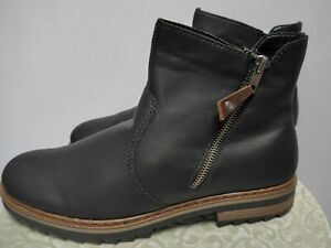 Rieker Ankle Boots Booties Boots Size 38 To 42 Black (521) New