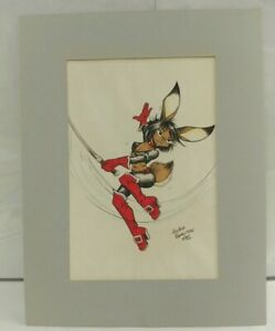 Cutey Bunny Hand Drawn by Joshua Quagmire Furry Fandom Art Kelly O'Hare 1982