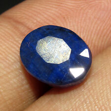 8.20Ct. Good Looking Natural Oval Cut Blue Sapphire Gemstone -CH 6130 Brazilian