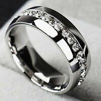 Men Women Couple Stainless Steel Wedding Ring Titanium Engagement Band Sz 7-11