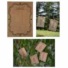 Vintage Tisch Platz Sitz Speise Karten Zahl 1-10 Hochzeit Geburtstag Party NEU