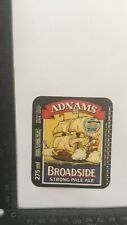 ORIGINAL BEER LABEL #070  - ADNAMS BROADSIDE PALE ALE