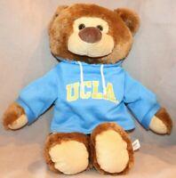 """UCLA 17"""" Teddy Bear with Blue Sweatshirt"""