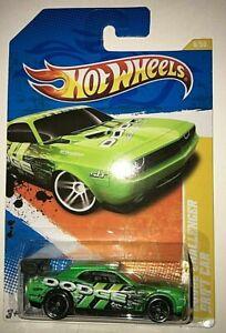 Hot Wheels 2011 New Models -  Dodge Challenger Drift Car - Green 1/64 scale